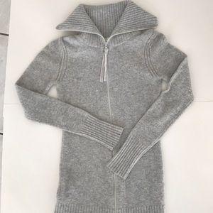 Old Navy long grey zip up sweater